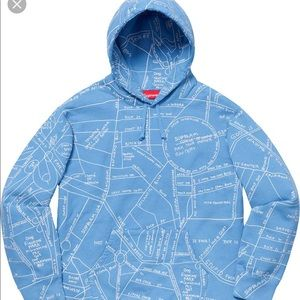 NEW Supreme Gonz Embroidered Map Hoodie, XL, NSFW